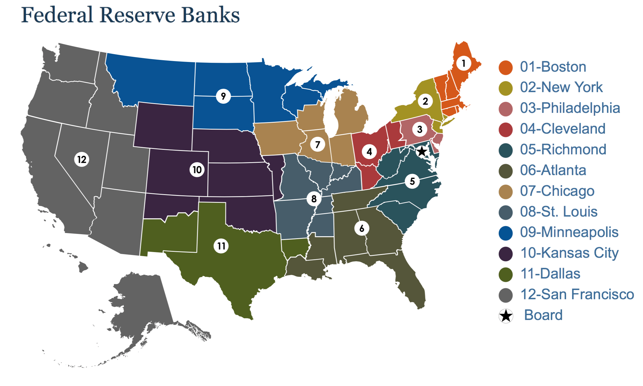 federal reserves 12 district - HD2234×1340