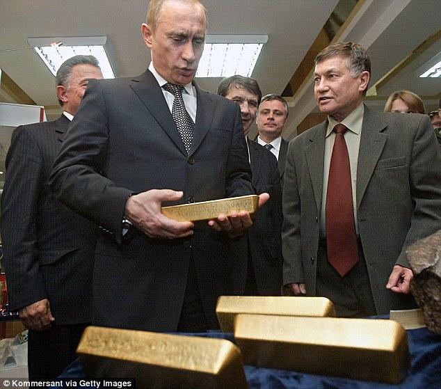 Путин в Хранилище ЦБ РФ