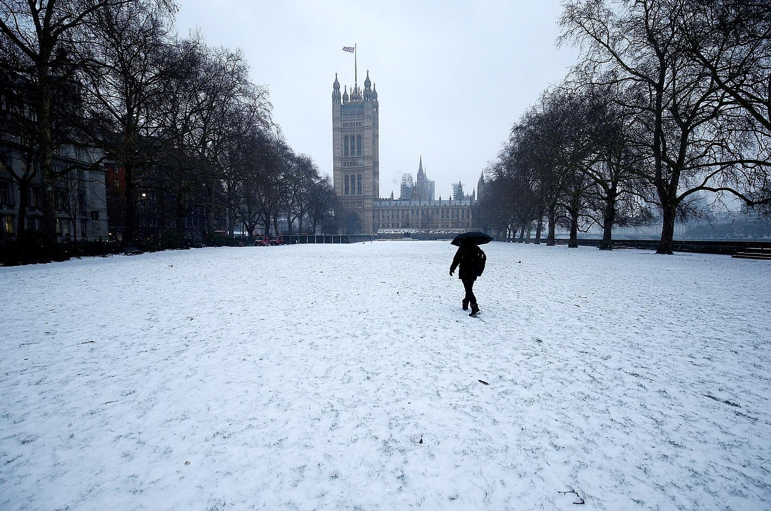 Снег в Лондоне в марте