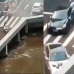 Оптическая иллюзия - машины под мостом